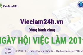 Vieclam24h.vn dong hanh cung Job Fair 2019 tai truong dai hoc Quoc te TPHCM